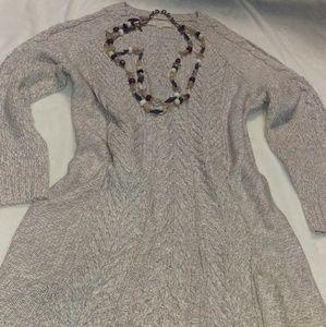 Loft, Ann Taylor Loft Colder Shoulder Cable Dress